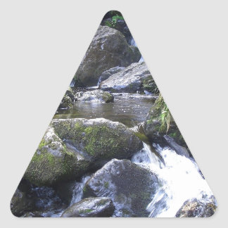 Water Boulder Moutain Falls Triangle Sticker