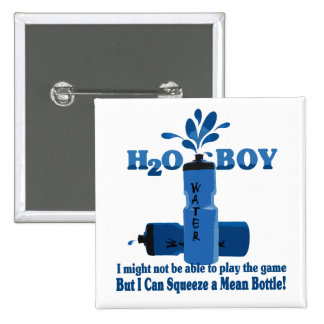 Water Boy Pinback Buttons