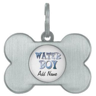 Water Boy Pet ID Tag