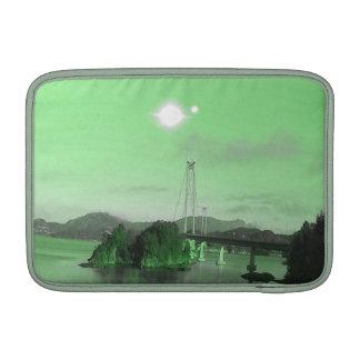 Water, bridge and two suns MacBook air sleeves