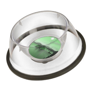 Water Bridge and two suns Pet Bowl