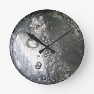 Water Bubbles-Abstract Round Wallclock