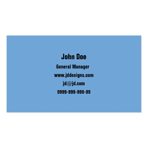 Water bubbles business Cards (back side)