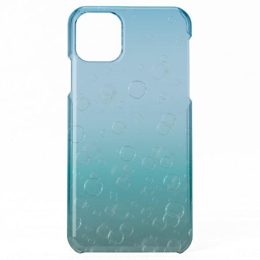 Water Bubbles Clear Phone Case