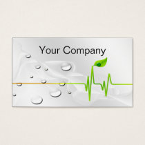 Water bubbles green business Cards