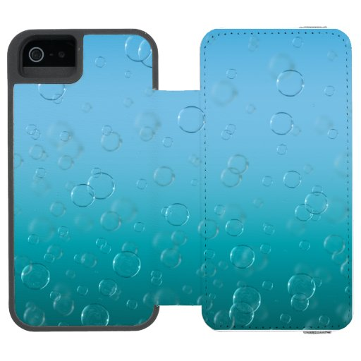Water Bubbles iPhone SE/5/5s Wallet Case