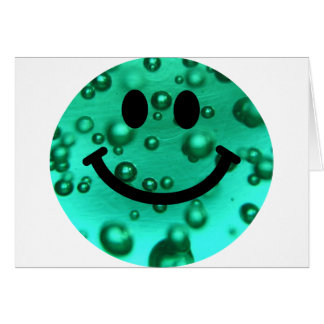 Water bubbles smiley card