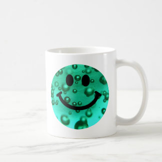 Water bubbles smiley coffee mug