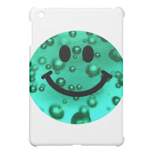 Water bubbles smiley cover for the iPad mini