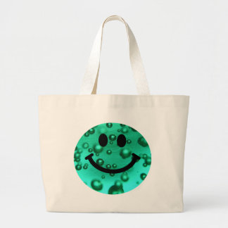 Water bubbles smiley jumbo tote bag
