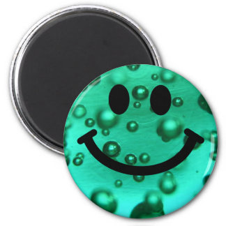 Water bubbles smiley magnet