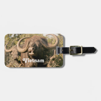 Water Buffalo in Vietnam Travel Bag Tag