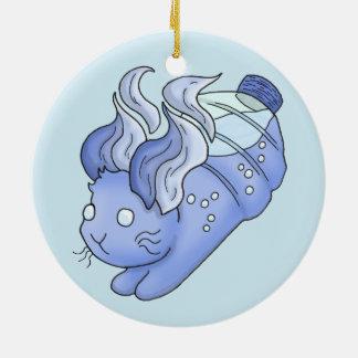 Water Bunny Ceramic Ornament