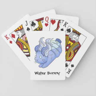 Water Bunny Playing Cards