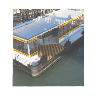 Water bus station on Grand Canal in Venice, Italy Notepad