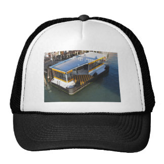 Water bus station on Grand Canal in Venice, Italy Trucker Hat