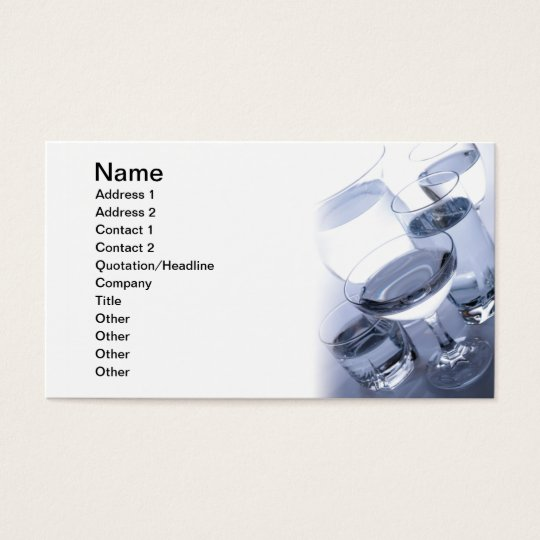 Water Business Card