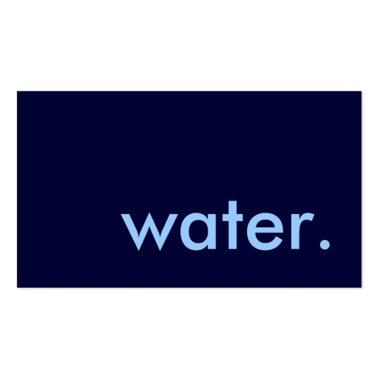 water. business card