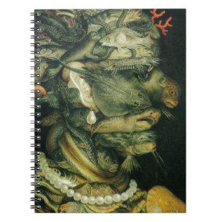 Water by Giuseppe Arcimboldo Spiral Note Book