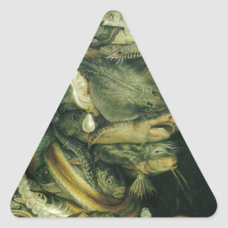 Water by Giuseppe Arcimboldo Triangle Sticker