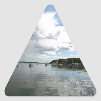 Water Calm Before The Storm Triangle Sticker