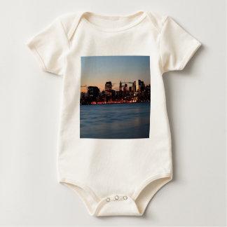 Water Canary Wharf Night Sky Baby Bodysuit