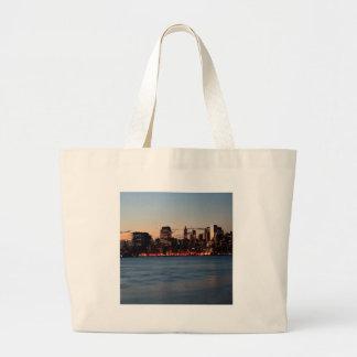 Water Canary Wharf Night Sky Bags