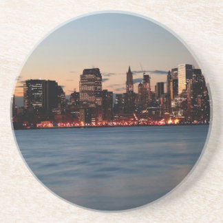 Water Canary Wharf Night Sky Drink Coasters