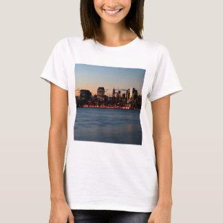 Water Canary Wharf Night Sky T-Shirt