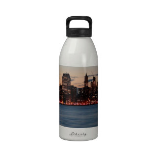 Water Canary Wharf Night Sky Reusable Water Bottles