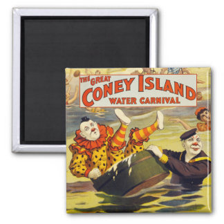 Water Carnival Clowns Magnet