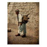 Water carrier of Jerusalem, Holy Land rare Photoch Postcards