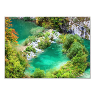 Water Cascade and Lakes 4.5x6.25 Paper Invitation Card