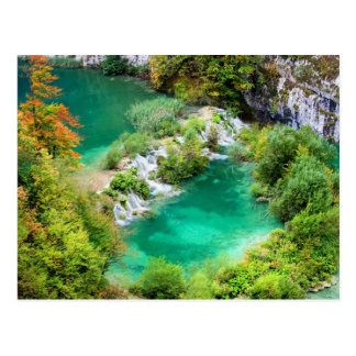 Water Cascade and Lakes Postcard