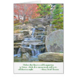 """""""water cascading over rocks"""" (nature photog) greeting cards"""