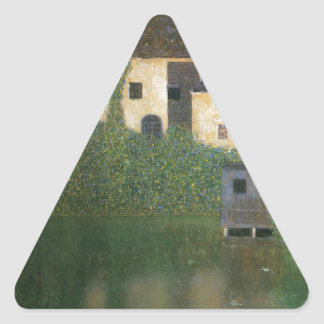 Water Castle cool Triangle Stickers
