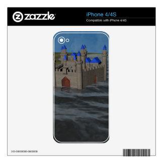 Water Castle iPhone 4 Decals