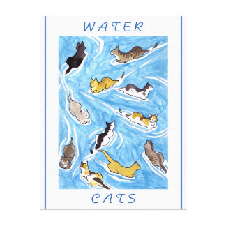 """""""Water Cats"""" Wrapped Canvas Print"""