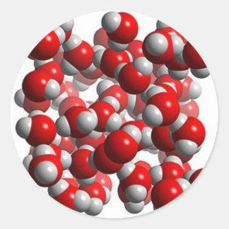water cells round stickers