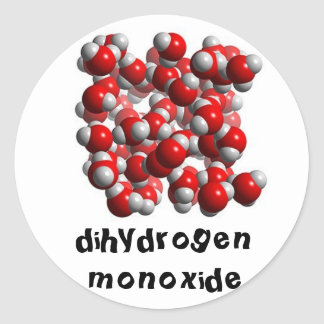 water cells round sticker