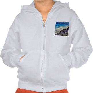 Water chasing beach hoodie