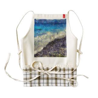 Water chasing beach zazzle HEART apron