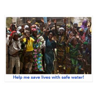Water Circle Announcement Postcard