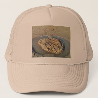 Water Circle in Sand on Beach, Summer Time Trucker Hat