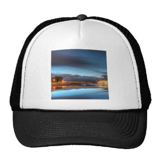 Water City Lights River Mesh Hat