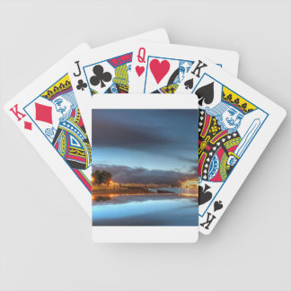 Water City Lights River Bicycle Poker Deck