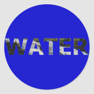 Water Classic Round Sticker