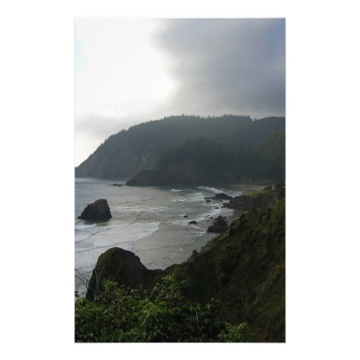 Water Cliffs At Cove Bay Personalized Stationery