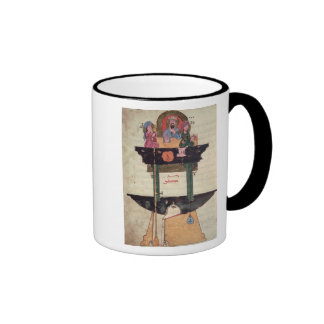 Water clock with automated figures ringer mug