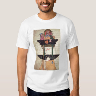 Water clock with automated figures shirt